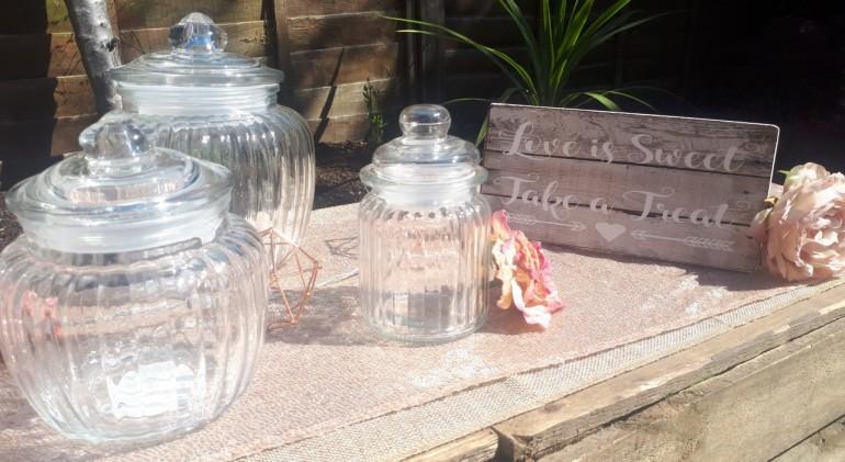 3 size sweet jars