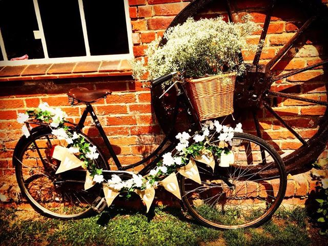 bike at wedding
