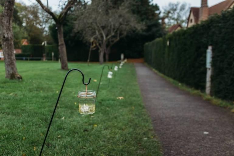 Tea light jars and hooks