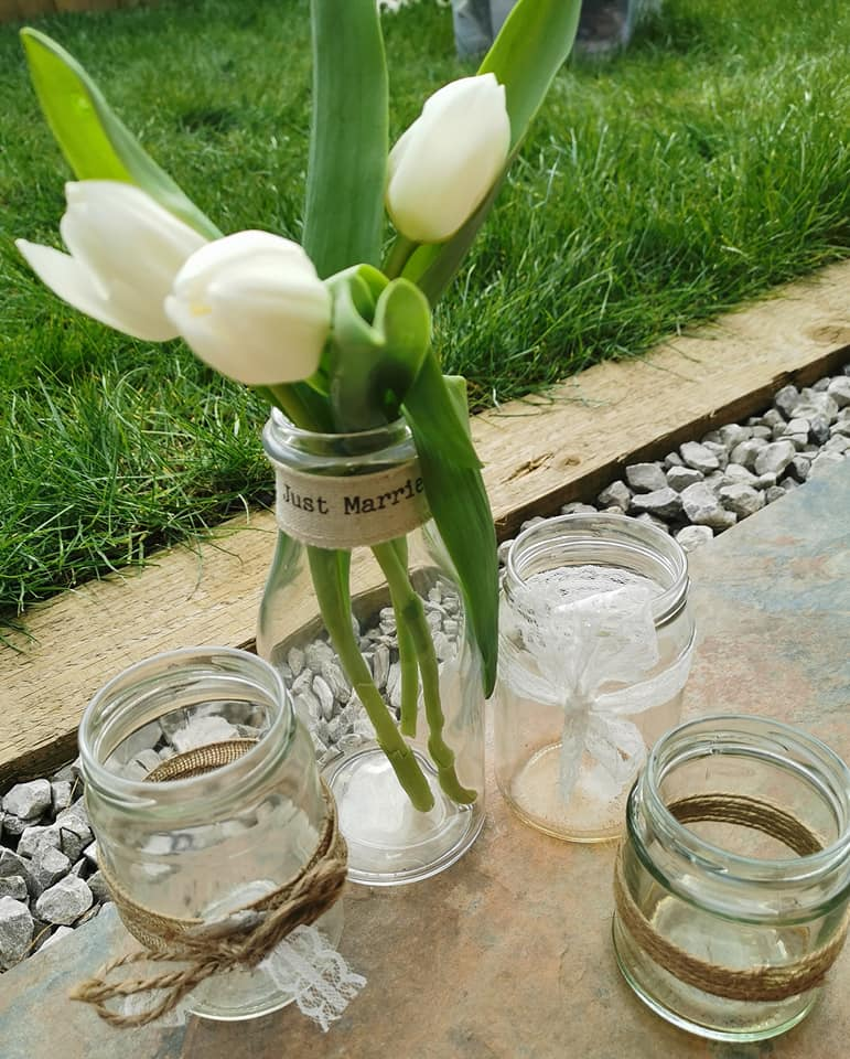 This image has an empty alt attribute; its file name is jars-and-milk-bottles.jpg