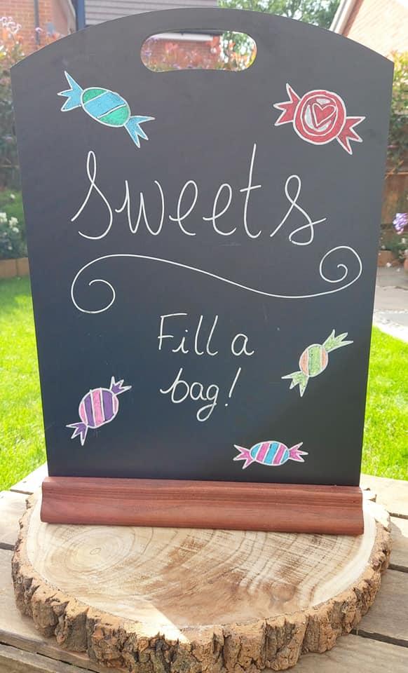 sweet sign chalkboard
